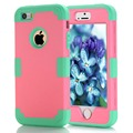 For iPhone 5 Case for iPhone 5S Cases Candy Color High Impact Hybrid Defender Armor Cover Coque Carcasa For iPhone 5/5S 9Color