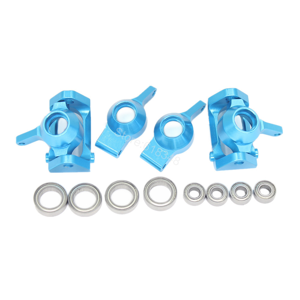 Aluminum Front Rear Steering Hub Base C Carrier Knuckle Upgrade Kit Wltoys A959 A949 A969 A979 K929 1/18 RC Car - Hobby Zone Industry Co.,Ltd store