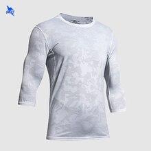 Running Shirts Rashguard Sportswear Mesh Fitness Long-Sleeve Quick-Dry Gym Men Breathable