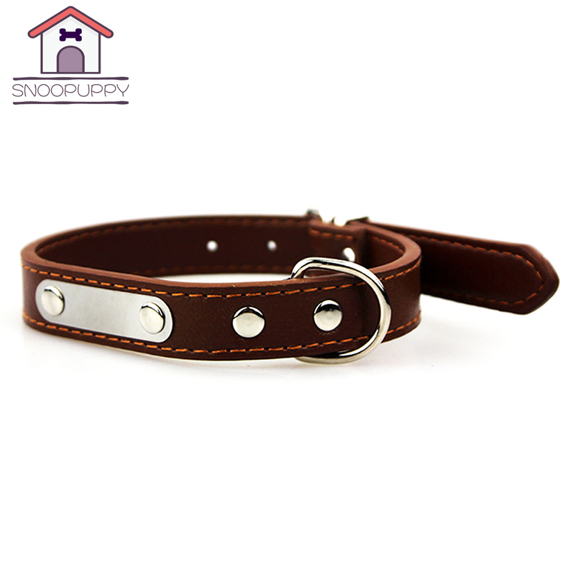 dog cat pet pu leather collars adjustable breakaway basic collar for small large pets dogs for. Black Bedroom Furniture Sets. Home Design Ideas