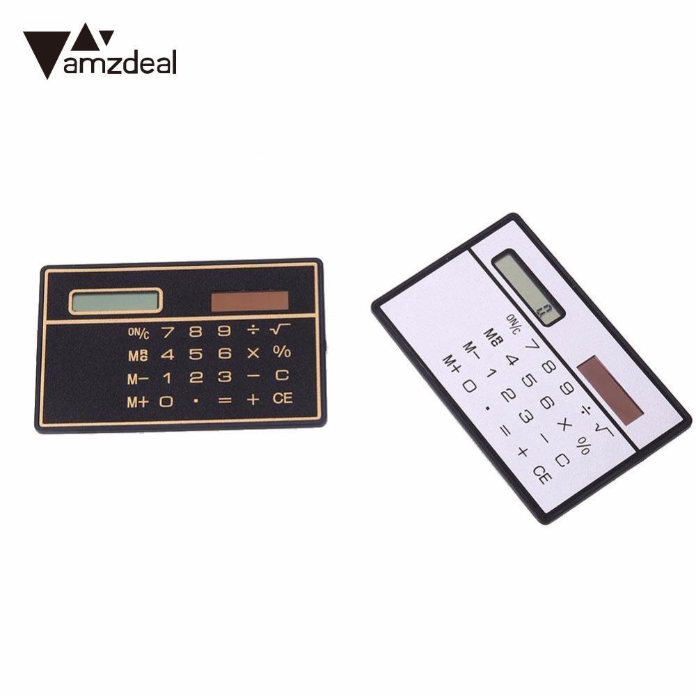 amzdealNew Pocket Convenient Mini Small 8 Bits Calculator Ultra Thin Solar Panel Professional Home Decoration Solar Cell Board