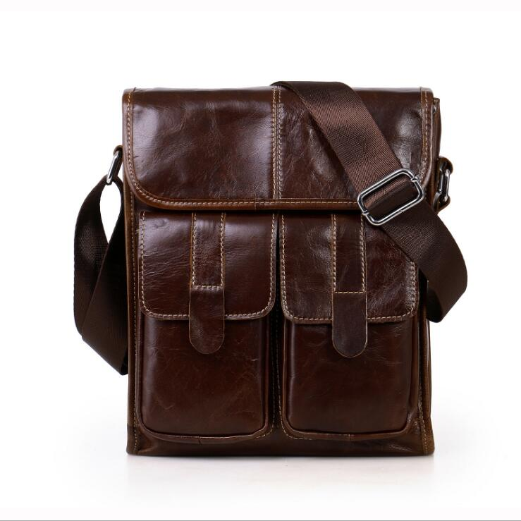 Wax oil skin Shoulder bag Genuine leather Crossbody bags Cowhide Ipad Messenger bags wifi ipc 720p 1280 720p household camera onvif with allbrand camera free shipping