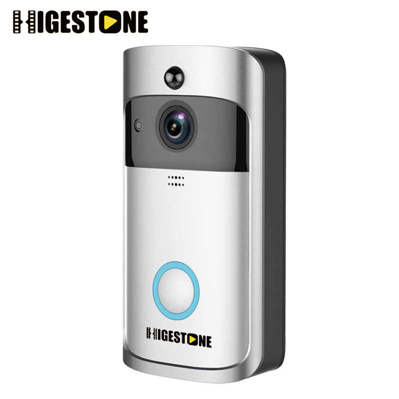 309a2782c94a7 Higestone WiFi Smart Video Doorbell IP Camera Ring Door bell Two Way Audio  Wireless APP Control iOS Android Battery Powered