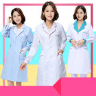 Medical clothing women Medical gown Lab coat White coat Clothes for doctors Summer and Spring Overalls short-sleeved lab coats