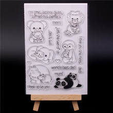 Rubber Silicone Clear Stamps for Scrapbooking Tampons Transparents Seal Background Stamp Card Making Diy Animal panda rubber silicone clear stamps for scrapbooking tampons transparents seal background stamp card making diy happy birthday