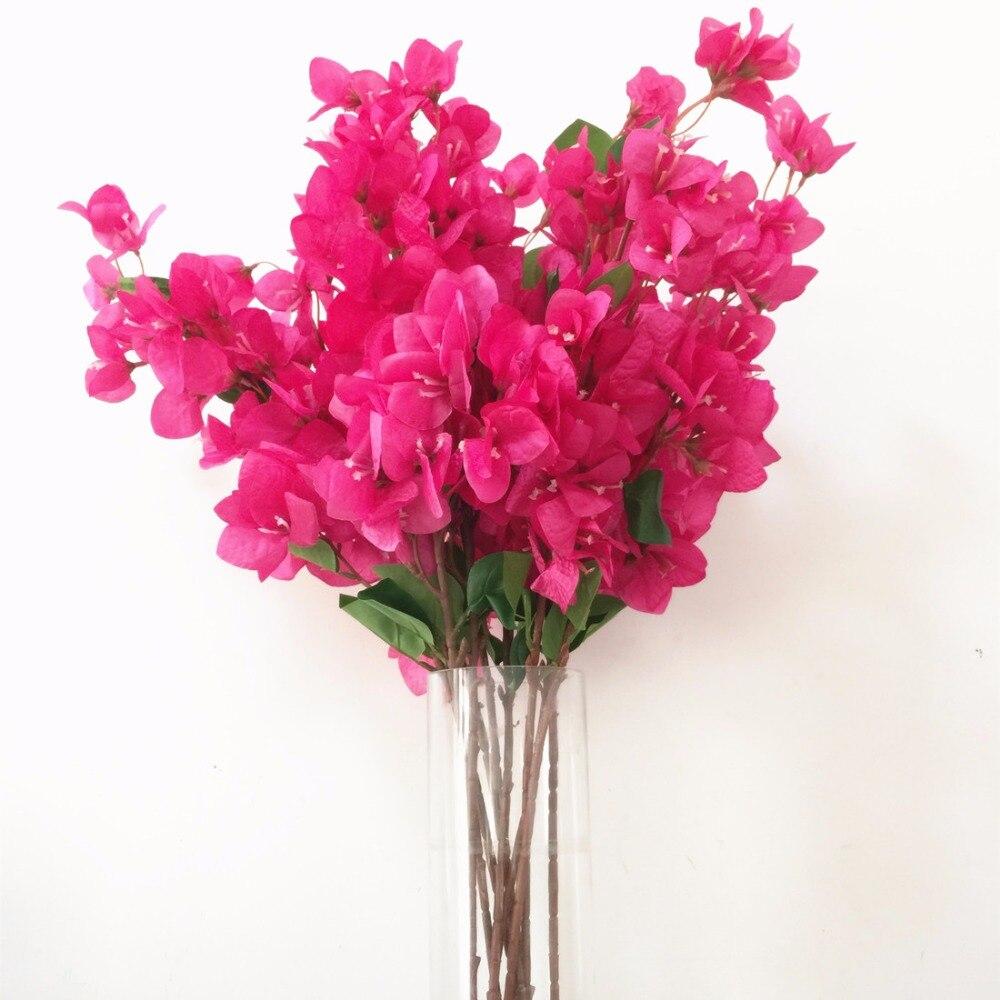24pcs Bougainvillea Tree Stem Artificial Bougainvillea Tree Flower Branches 31 5 for Wedding Centerpieces Decorative Flowers