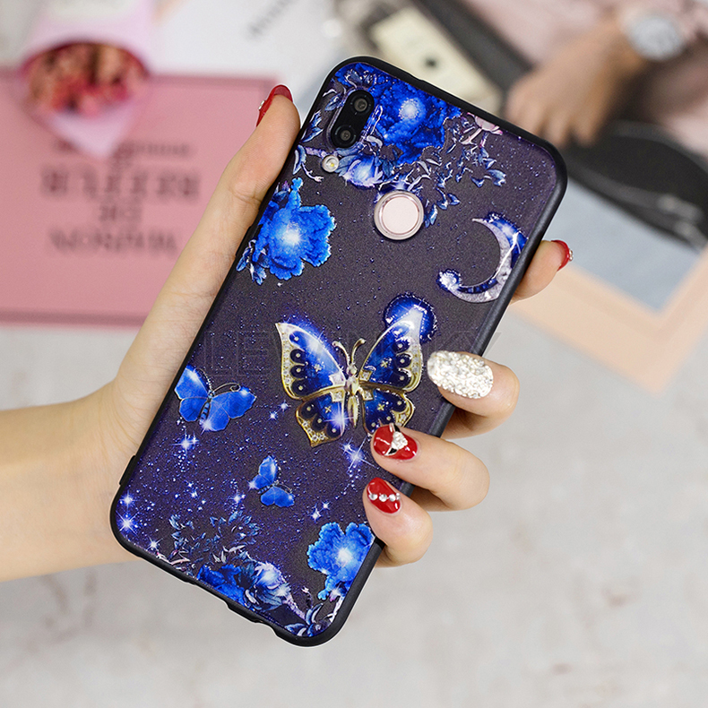 3D Relief Glossy Case For Huawei Y6 Y5 Y7 Prime Y9 Mate 10 P20 Lite Pro P Smart Nova 3I Case On Honor 7C 5.99 7X 7A 9 Lite