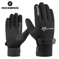 RockBros Winter Windproof Full Finger MTB Road Bike Bicycle Gloves Fleece Keep Warm Gel Anti Slip