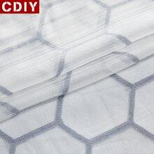 CDIY Тюль занавеска s для гостиной современная Геометрическая прозрачная занавеска для спальни шифоновая ткань штор органза вуаль оконные шторы