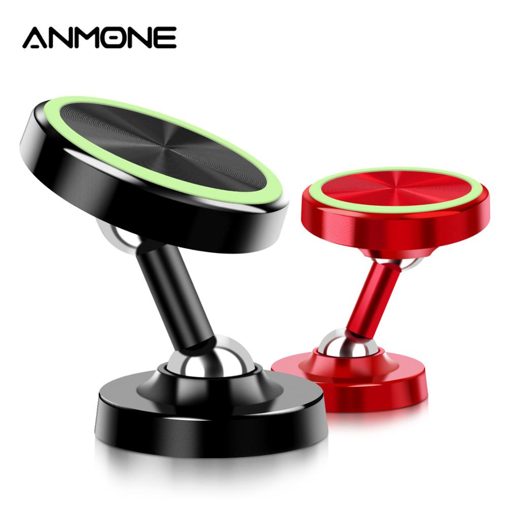 Anmone Universal Luminous Magnetic Car Phone Holder Stand In Car 360 Degree Rotatable Magnet Holder For Cell Phone Support GPS