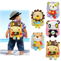 Baby Plush Backpack 5 Styles Cute Cartoon Children Packing Food Picnic Bags Toy Collection Kindergarten Bag