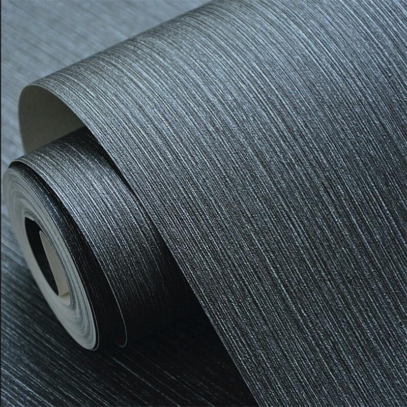 €26.18 29% de réduction|Beibehang papier peint gris Foncé végétalien  couleur étanche PVC salon salle à manger étude papier peint hôtel boîte  pleine de ...