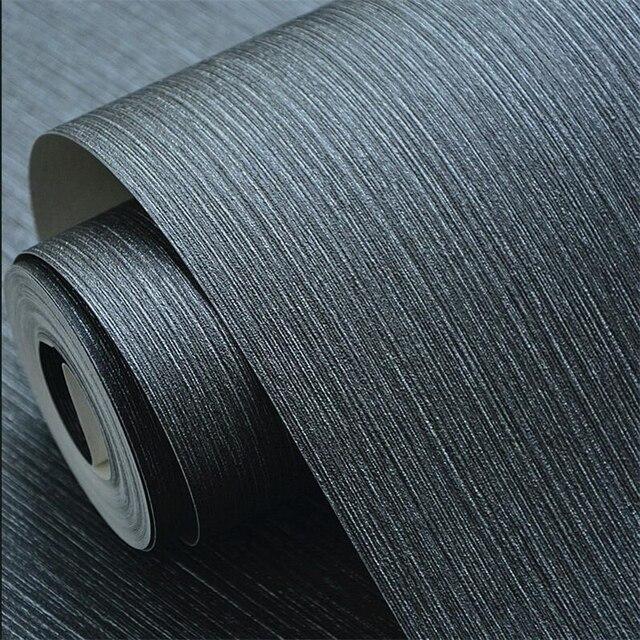 Beibehang papier peint gris Foncé végétalien couleur étanche PVC ...