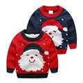 New Winter 2016 Christmas costumes Kids' things boys sweater sudaderas Jacquard Santas trui Children's pullover KD003