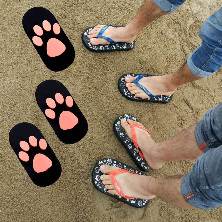 15% OFF Women shoes summer sandals womens cartoon cat clip toe flip flops animal slippers high quality free size for 36-39