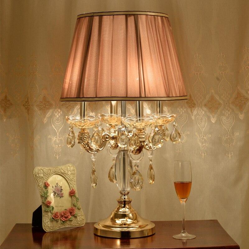Туда 40X67 см бесплатная доставка Подсвечник настольная лампа в форме Роскошные K9 Кристалл Настольная лампа для Спальня Гостиная Таблица лам...