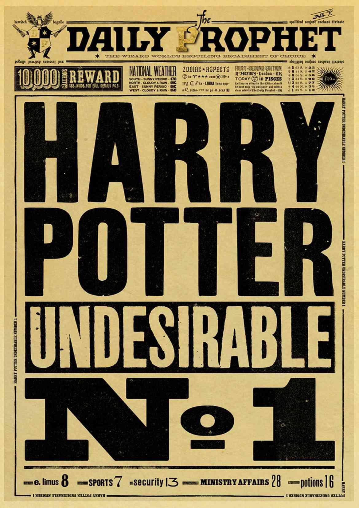 Classic movie Harry potter poster Hogwarts Umbridge Educational ...
