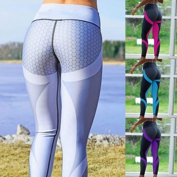 8 colors New Fitness Sport leggings Women Mesh Print High Waist Legins Femme Girls Workout Yoga Pants Push Up Elastic Slim Pants 11