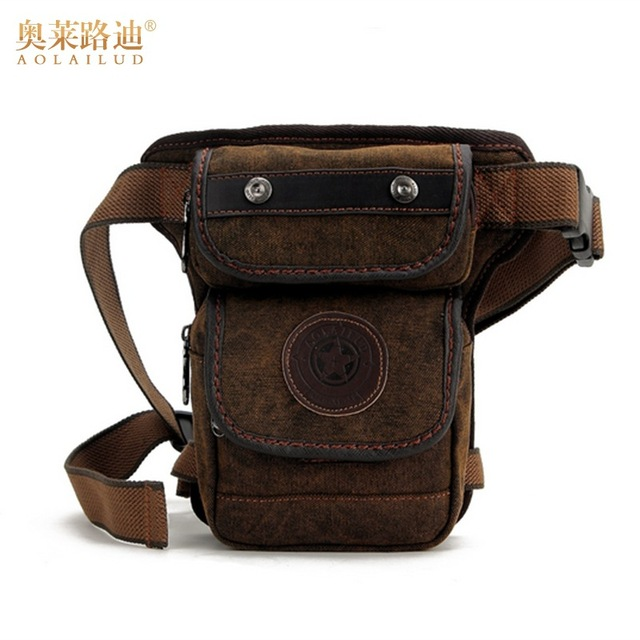 new fashion canvas waist pack waterproof waist bag leg bag casual Fanny  pack men military thigh bag bum hip pouch 7d08d894a69a4