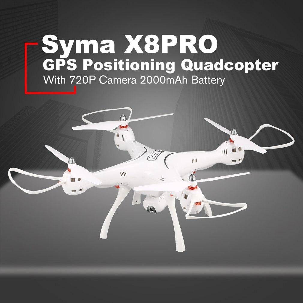 SYMA X8PRO GPS DRONE WIFI FPV avec 720 P HD caméra réglable Drone 2.4G 6 axes maintien d'altitude x8 pro FPV Selfie modèle hélicoptère