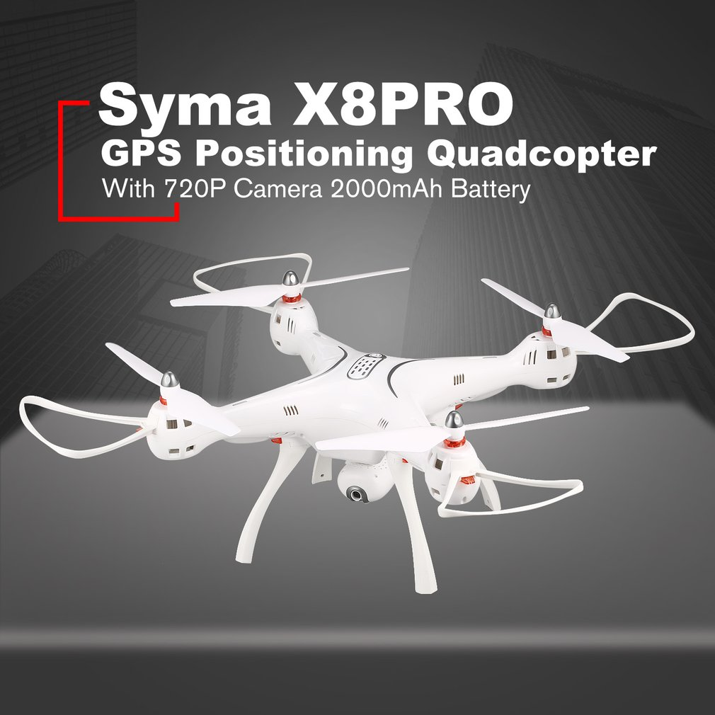 SYMA X8PRO GPS DRONE WIFI FPV With 720P HD Adjustable Camera Drone 2.4G 6Axis Altitude Hold x8 pro FPV Selfie Helicopter Model image