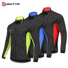 Outto Mens Cycling Long Sleeve Windproof Windbreaker Winter Full Zipper Jacket Outdoor Sports Warm Coat