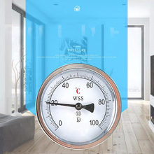 цена на Axial bimetal thermometer stainless steel boiler thermometer 100 degree industrial temperature pipe temperature gauge