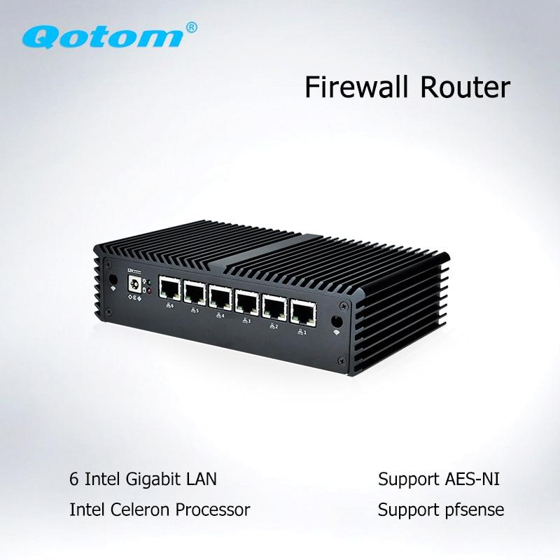 Pfsense Mini PC 6 Intel LAN Celeron Core I3 I5 AES-NI Firewall Router Mini Computer Linux Ubuntu Micro PC Pfsense Thin Client