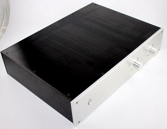 Argent WA19 châssis en aluminium pré-amplificateur châssis/boîtier/boîte 313*425*90mm