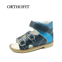 Russian Design Mixed Colors Sandals For Boys Orthopedic Shoes Kids Children Durable Leather Shoes