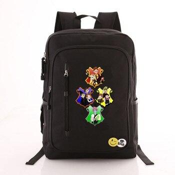 Рюкзак гарри Поттер эмблемы черный 1