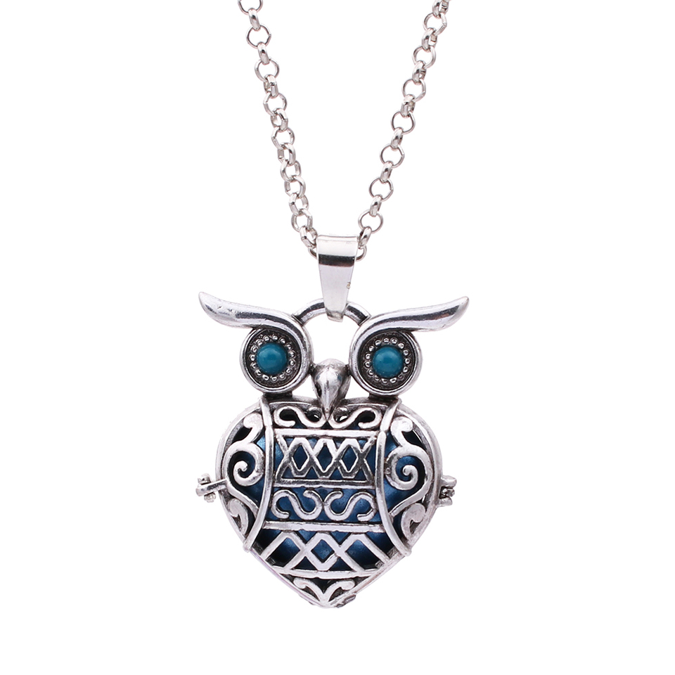 Antique Owl Necklace Mexico Music Sound