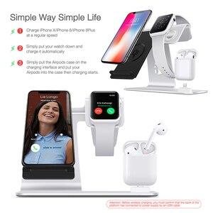 Image 4 - Szybka bezprzewodowa ładowarka 3 w 1 dla iPhone Xs/Apple Watch/Airpods bezprzewodowe ładowanie dla iPhone XsMas/Xr/8plus Samsung S9 S8