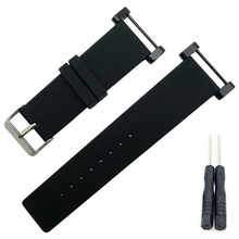 24mm Smooth For Suunto Core Watch Band Rubber Silicone Gel Waterproof Strap+Adapters+Tools ST-14 цена