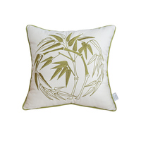 New Decorative Cushion Cover Luxury Embroidered Chinese Style Linen Cotton Office Sofa Throw Pillowcase Home Decor