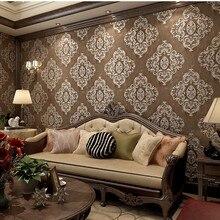 Beibehang 3D обои с глубоким тиснением, выгравированные европейские аристократические Дамасские обои для спальни гостиной