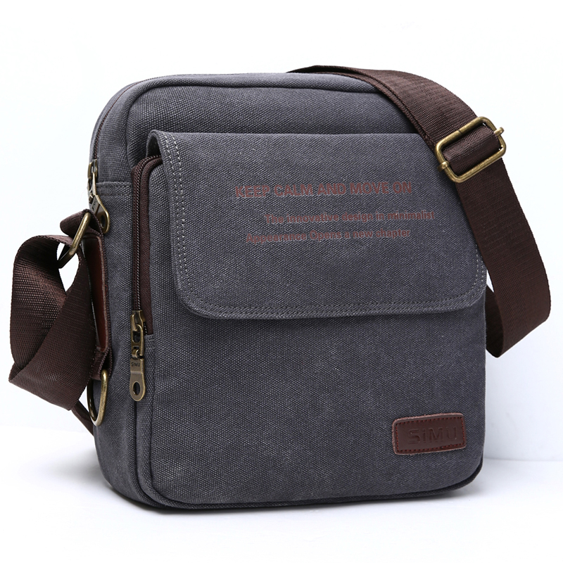 SIMU Urban Daily Carry Canvas Shoulder Bag Casual Travel