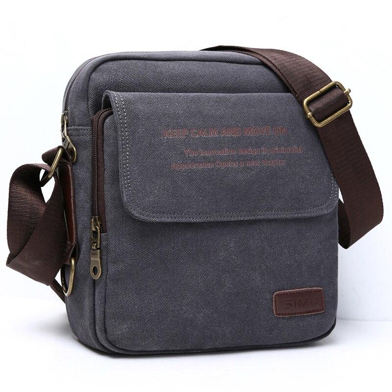 1136609b0c1f Urban Daily Carry Bag High Quality Canvas Shoulder Bag Casual Travel Men s  Crossbody Bag Male Messenger