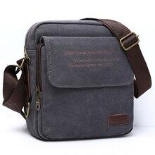 Мужская городская Повседневная сумка высокого качества, Мужская Холщовая Сумка на плечо, Повседневная дорожная мужская сумка через плечо, мужские сумки-мессенджеры 3 размера