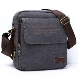 Человек городской ежедневного ношения сумка высокого качества Мужская парусиновая сумка Повседневная дорожная мужская сумка через плечо ...