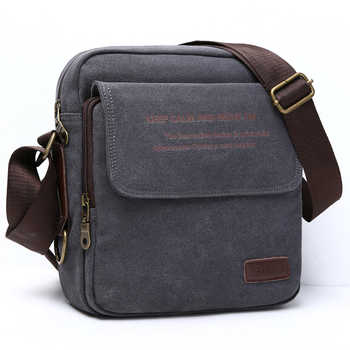 Man Urban Daily Carry Bag High Quality Men Canvas Shoulder Bag Casual Travel Men's Crossbody Bag Male Messenger Bags 3 Size - DISCOUNT ITEM  40% OFF All Category