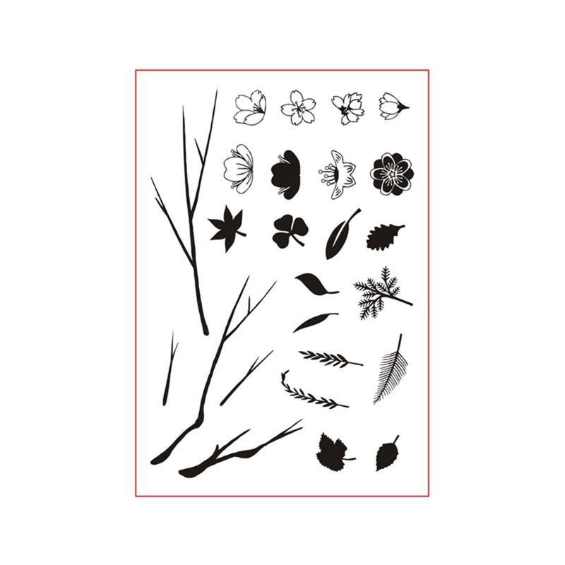 Creative Leaves Silicone Clear Seal Stamp DIY Scrapbooking Embossing Photo Album Decorative Paper Card Craft Art Handmade Gift in Stamps from Home Garden