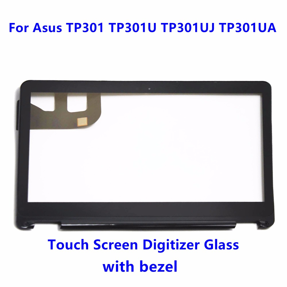 13.3 Touch Screen Digitizer Glass Replacement + Bezel for Asus Transformer Book Flip TP301 TP301U TP301UJ TP301UA TP301UA-DW black full lcd display touch screen digitizer replacement for asus transformer book t100h free shipping