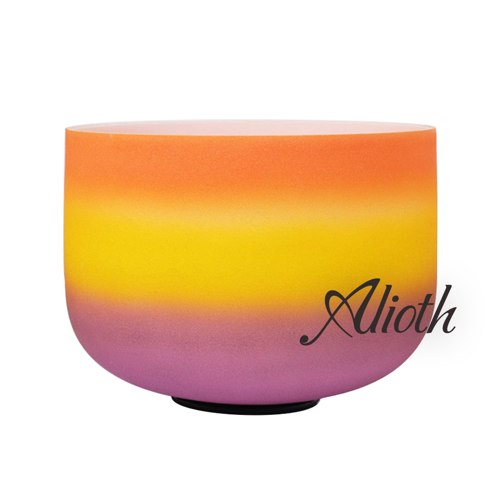 11 Inch Outside Rainbow Colored D Note Crystal Singing Bowl for Sacral Chakra Balancing /Yoga/Meditation/Sound Therapy11 Inch Outside Rainbow Colored D Note Crystal Singing Bowl for Sacral Chakra Balancing /Yoga/Meditation/Sound Therapy