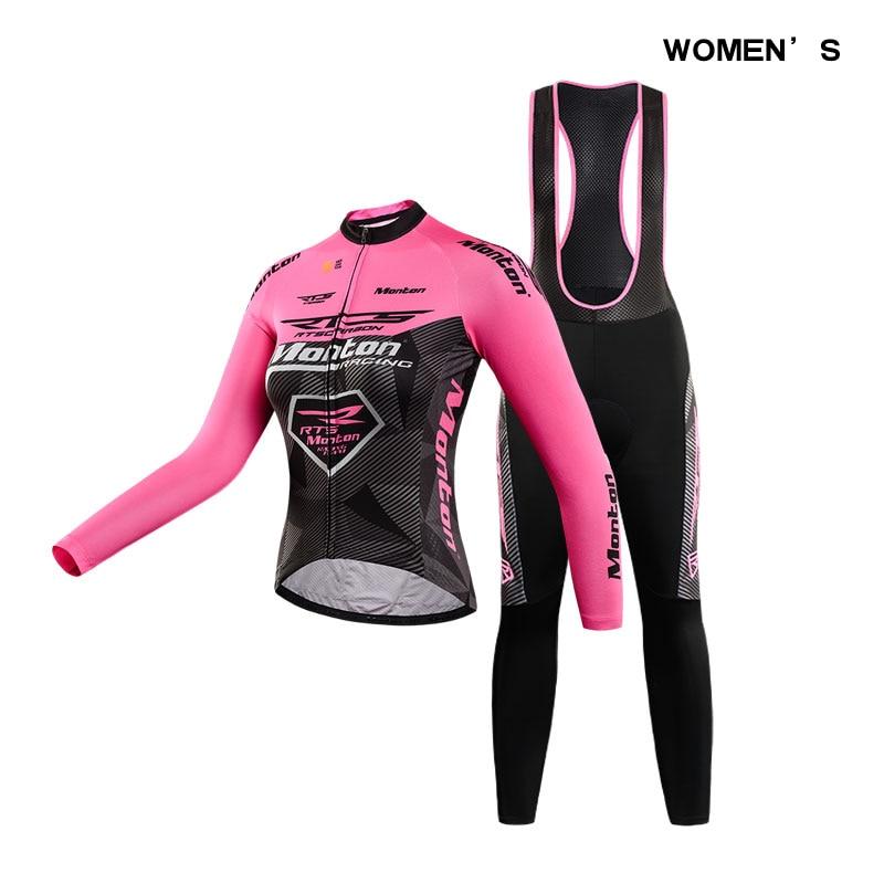 monton Women Cycling Sets RTS Team Jersey + Bib Pants Spring/Autumn Fit Wear Cycling Clothings Ropa Ciclismo  Cycling Bike Sets 2015 monton ropa ciclismo mujer luoli 5 203