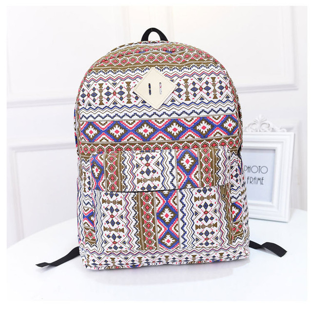 2015 New Fashion National Women/Girl Backpacks Girls Bookbag ...