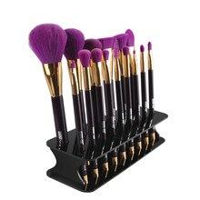 15 Hole Square Makeup Brush Holder Drying Rack Organizer Cosmetic Shelf Tool G6901