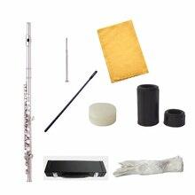 цены на Flute C Tune 16 Keys Holes Open Flute Silver Plated With Case E-Mechanism Flauta  MCL-5139  в интернет-магазинах