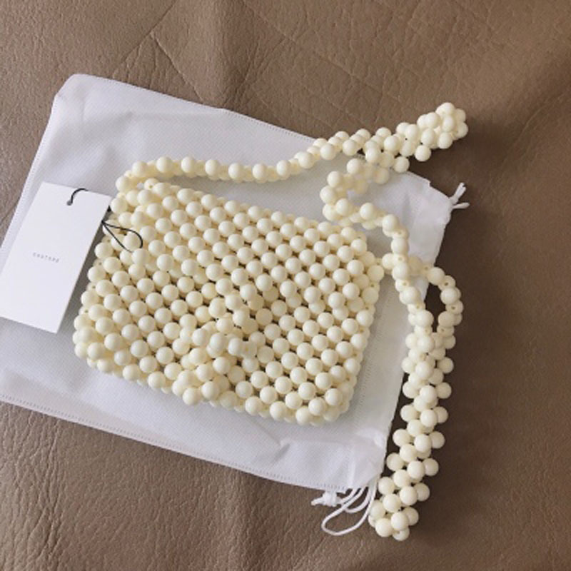 Artisanat Niche acrylique perle sac blanc sac à bandoulière fée femmes a5358