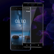 IMAK for Nokia8 Full Display screen Full Overlaying HD Full Protection Tempered Glass Display screen Protector for Nokia eight – Black
